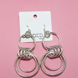 Silver Drop Earrings NWT
